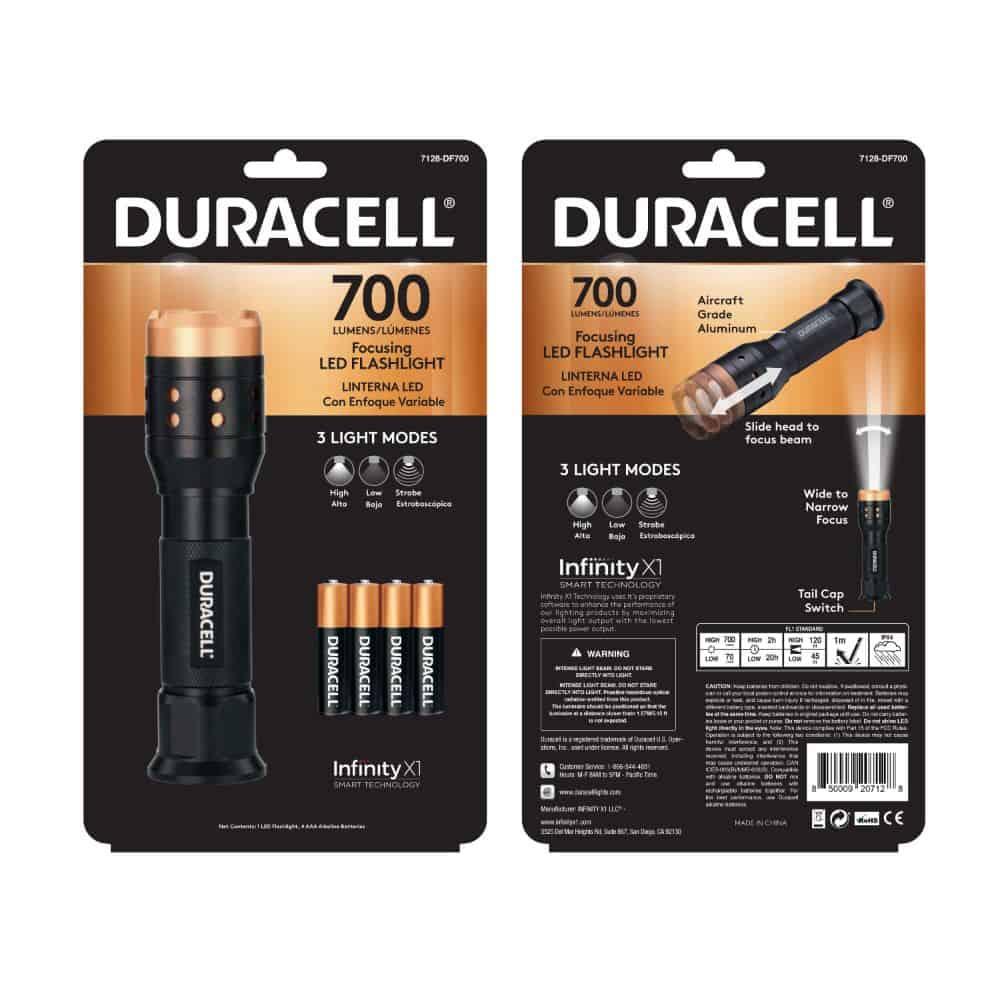 flashlight in packaging