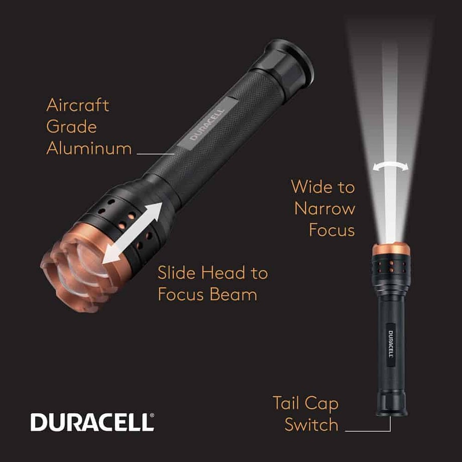 feature call outs for the 2500 lumen flashlight