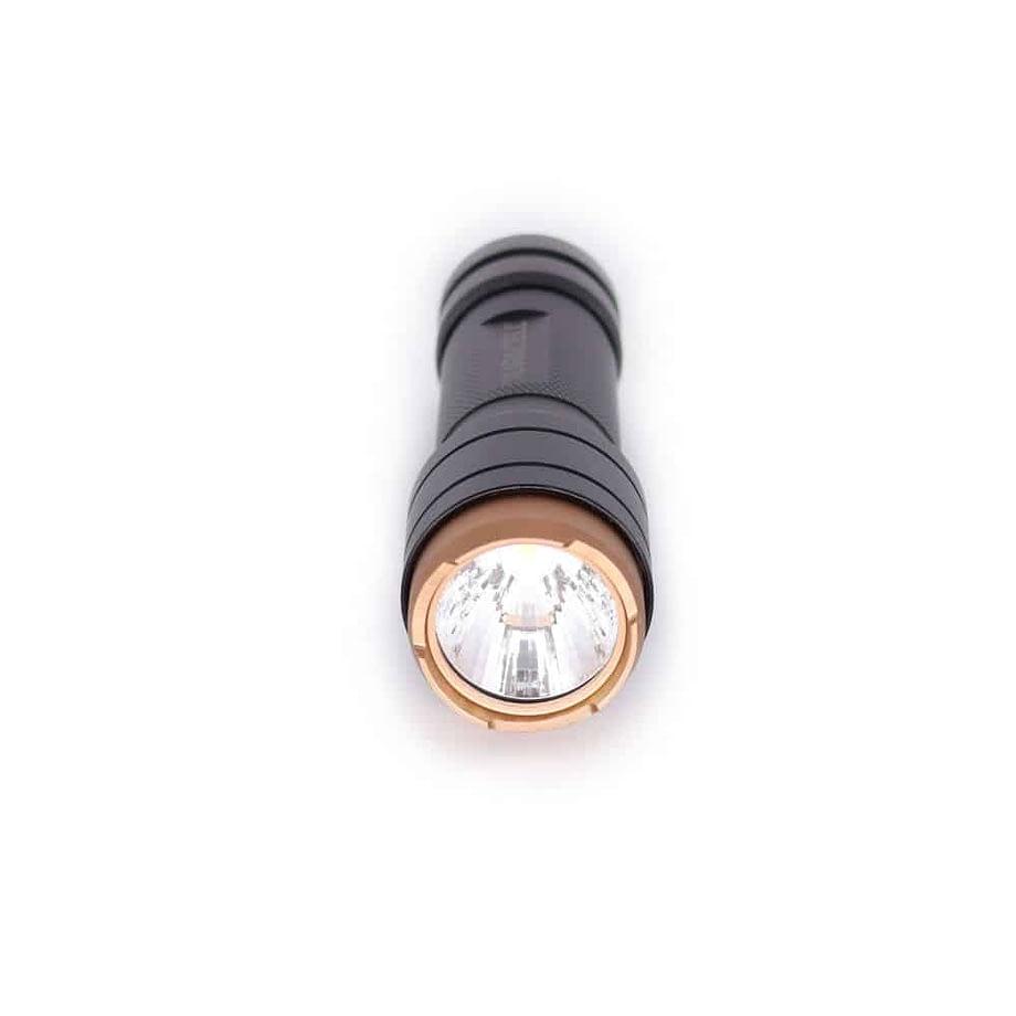 250 Lumen Aluminum Flashlight Front View