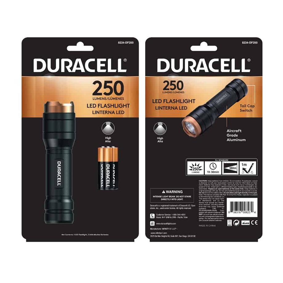 250 Lumen Aluminum Flashlight in Package