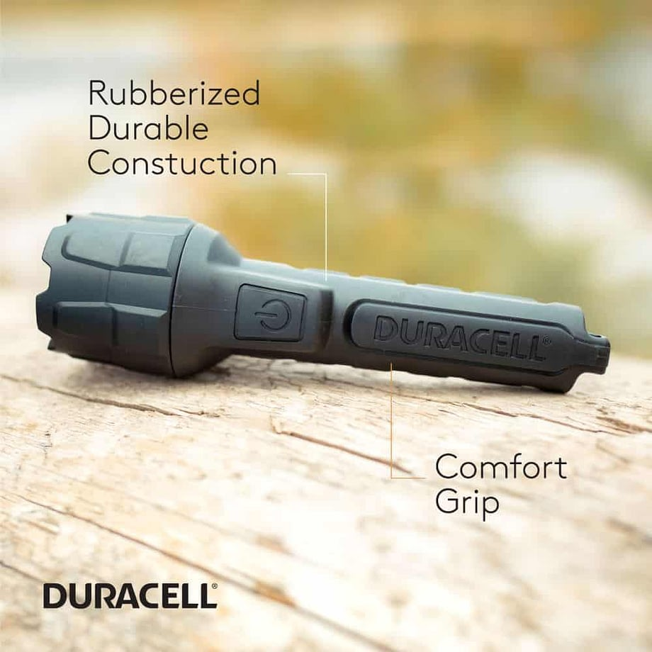 feature call outs for the 100 lumen rubber flashlight