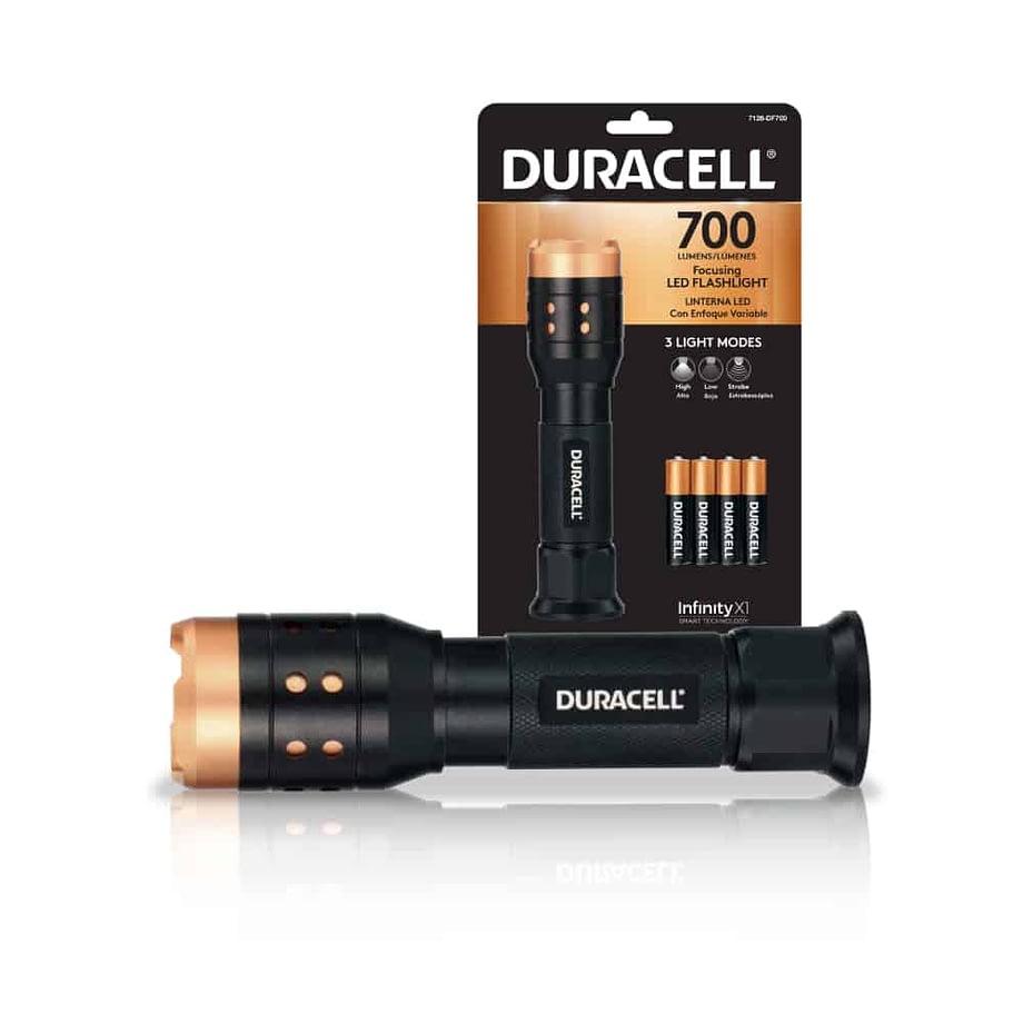 700 lumen flashlight next to packaging