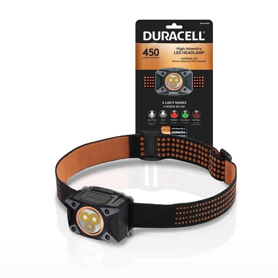 450 lumen headlamp next to packaging