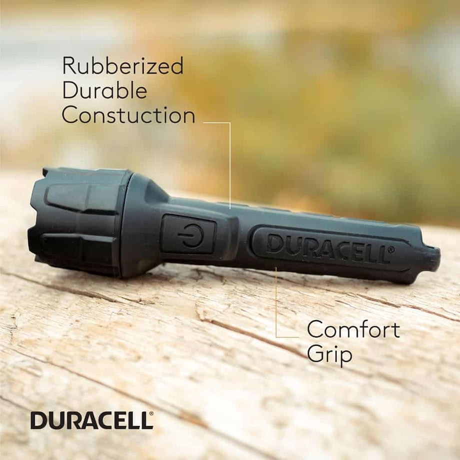 Features called out on the 80 Lumen Rubber Flashlight