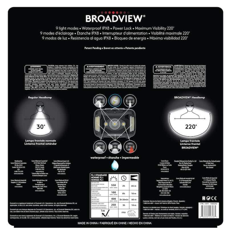 Broadview Headlamp Packaging Back