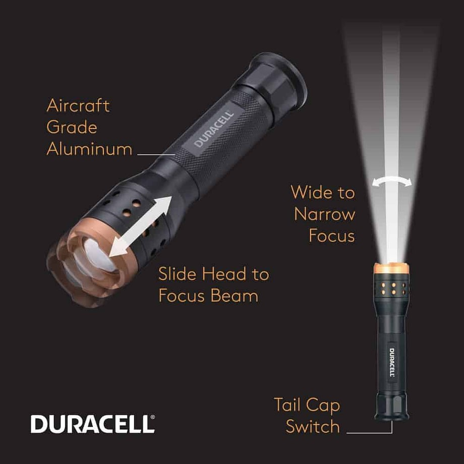 features call outs for the 1000 lumen flashlight