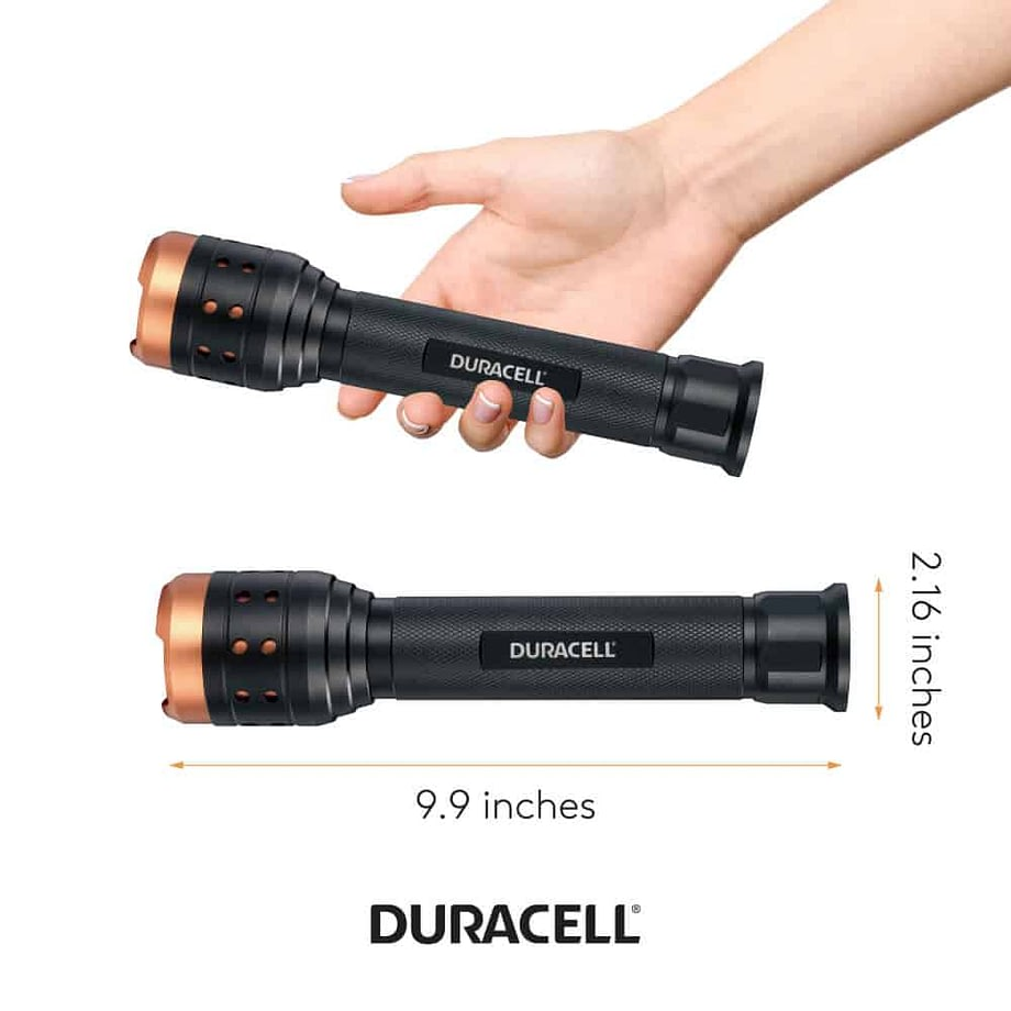 Person Holding Flashlight in Hand for Scale