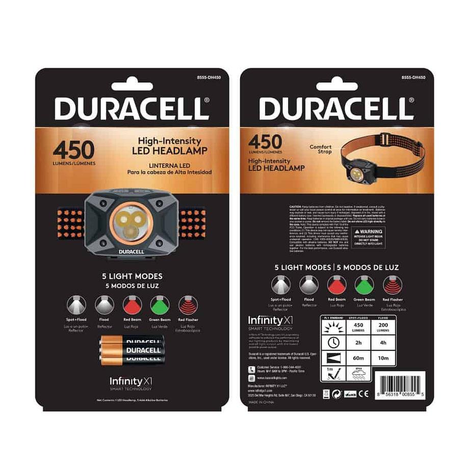 450 Lumen Headlamp in Package
