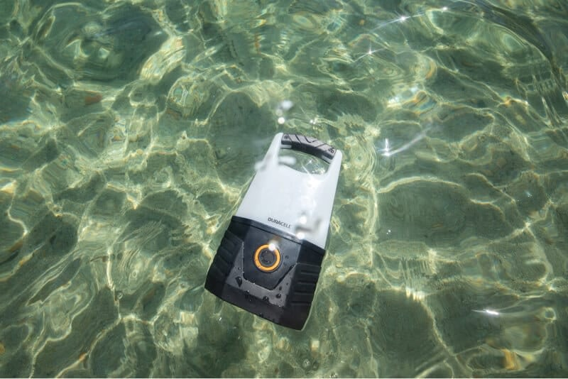 Lantern floating in water